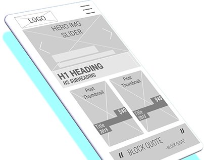 CSS Grid Wireframes