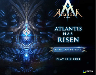 """Atlantica Online"" Banner Ad Concept and Messaging"