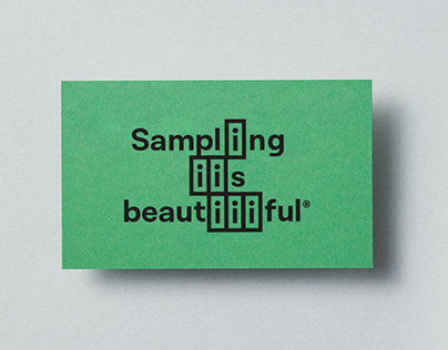 Sampling is beautiful - Visual identity