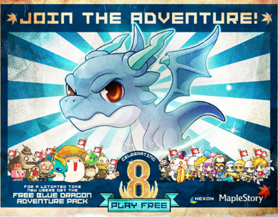 """MapleStory"" 8th Anniversary Banner Ad Campaign"