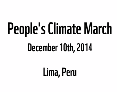 WWF: People's Climate March in Peru - COP20