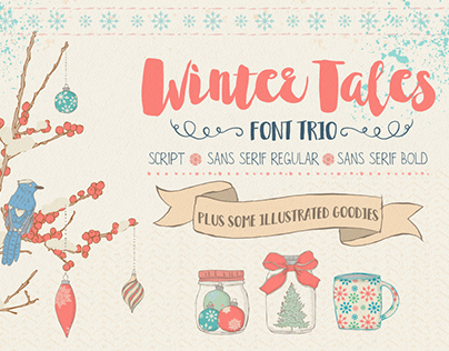 Winter Tales Font Trio + extras