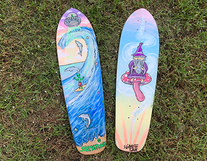 Skateboard Painting