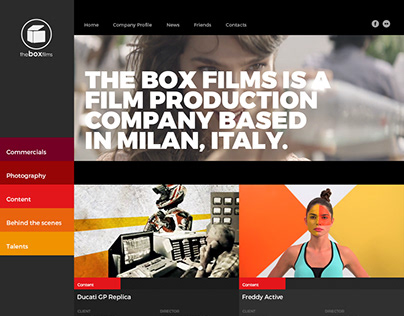 The Box Films site design