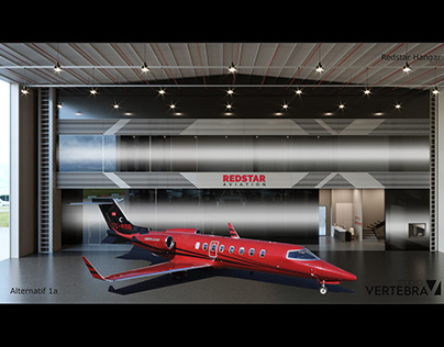 Aircraft Shed Interior Design Project / İstanbul
