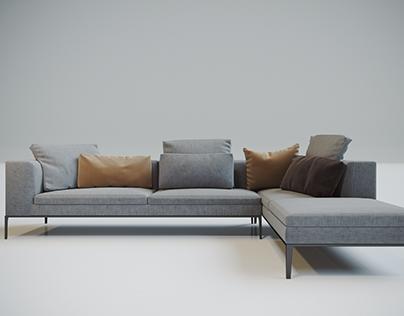 Free 3D Sofa Model v2