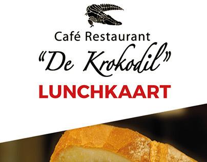 Restaurant De Krokodil. Lunchkaart