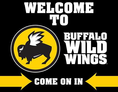 Buffalo Wild Wings Tri-fold Design