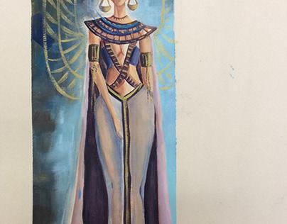 Costume design of Akhenaten's novel