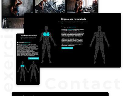 "Website for ""Plastylin"" gym"
