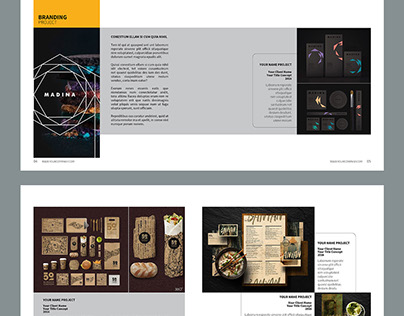Graphic Design Portfolio Template - 40 Pages