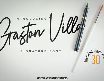 Gaston Villa - Signature Font