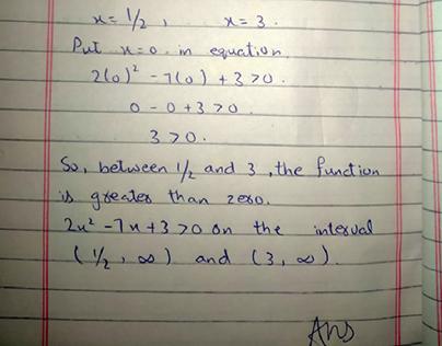 mathematics assignment , exams