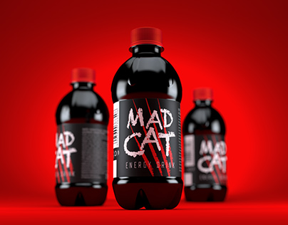 MAD CAT energy drink packaging