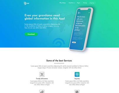 Global App Landing Page