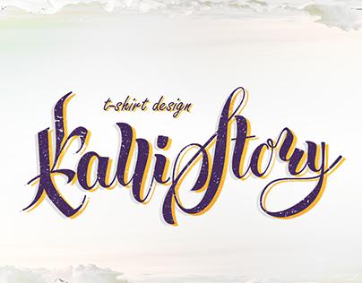 Callistory- t-shirt & calligraphy