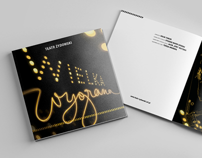 Booklet, Illustrations and Poster for Theaterplay