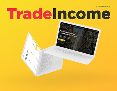 Landing page for investment company TradeIncome