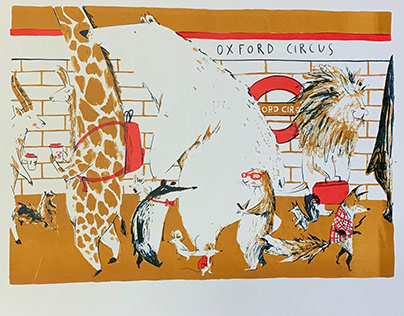 Oxford Circus Lithography