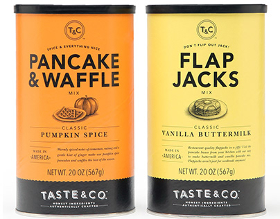 Taste and Co. Packaging Illustrated by Steven Noble