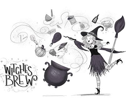 Witches Brew - Halloween illustration