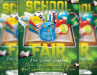 School Fair 2019 - School A5 Template