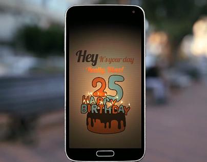 Birthday application- Joy