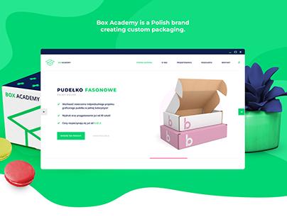 BoxAcademy - Custom Packaging Website