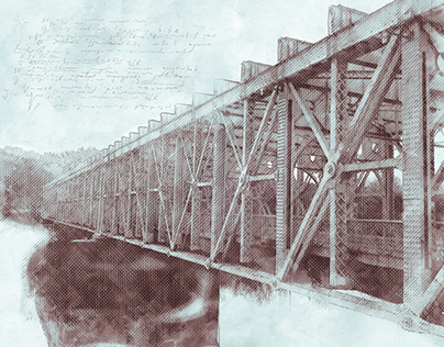 East Fall Bridge Drawings and Rendering