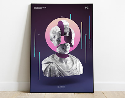 ABSTRACT POSTER OF A STATUE