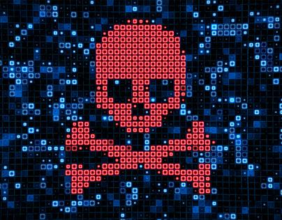 4K Futuristic Digital Data Nodes Being Hacked