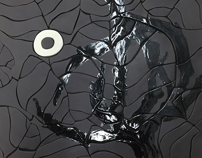 Shadow of a glare - ceramic surface