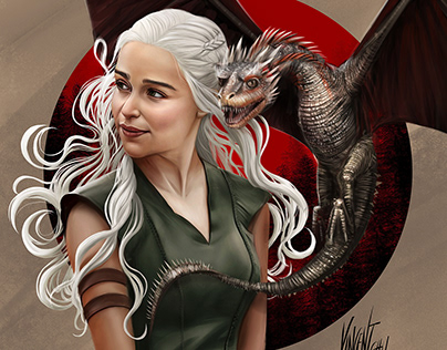 Fan Art Painting Daenerys Targaryen