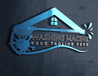 There are a Modern Minimalist Washing Machine logo