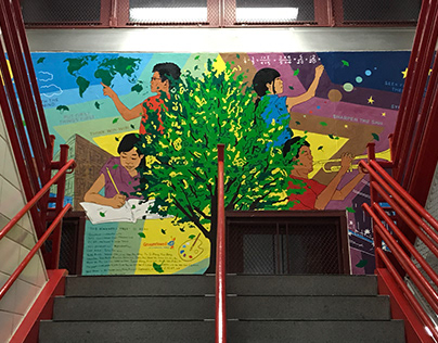 "Mural: ""The Kindness Tree (Day & Night)"""