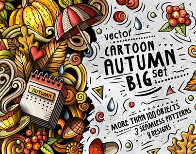 FALL Cartoon Vector Pack