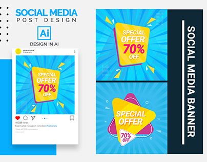 Social media template design .Banner design