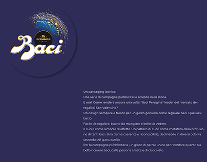 Baci Peugina - Italian dessert packaging Contest