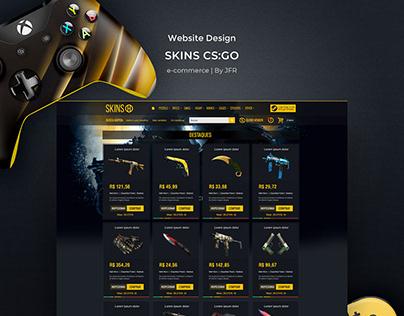 Ecommerce Website Layout Design - Skins CS:GO