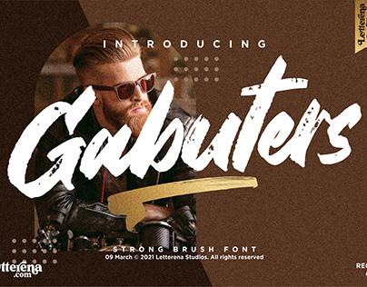 Gabuters - Strong Brush Font