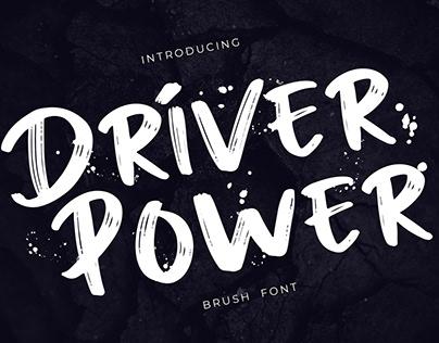 Driver Power Brush Grunge Font