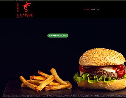 Site vitrine - l'Unique le Snack