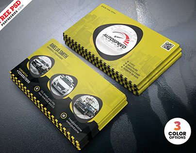 Car Rent and Taxi Service Business Card PSD