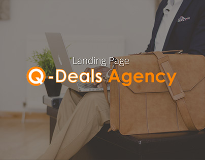 Landing Page for Q-Deals Agency