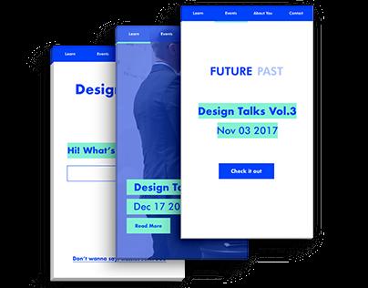 Design Talks App & Event Organisation