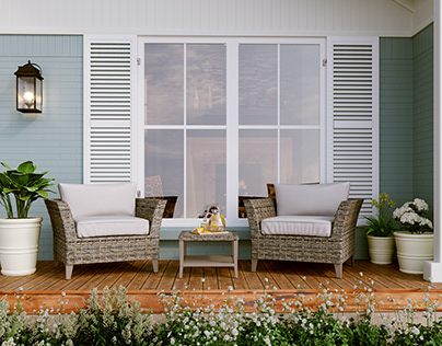Beautiful and Peaceful Patio | Outdoor Furniture Render