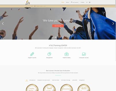 Design an academic website marketing