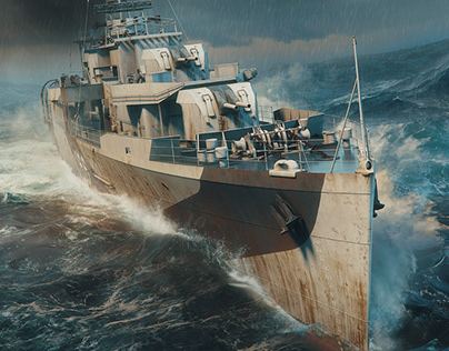 HMS Starling - Britain at War Magazine Illustration