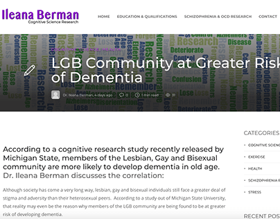 LGB Community at Greater Risk of Dementia