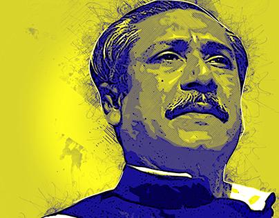 Sheikh Mujibur Rahman Portrait